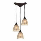 ELK Layers 3 Light Pendant in Oil Rubbed Bronze EK-10474-3