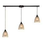 ELK Layers 3 Light Pendant in Oil Rubbed Bronze EK-10474-3L