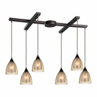ELK Layers 6 Light Pendant in Oil Rubbed Bronze EK-10474-6