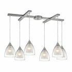 ELK Layers 6 Light Pendant in Satin Nickel EK-10464-6
