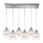ELK Layers 6 Light Pendant in Satin Nickel EK-10464-6RC