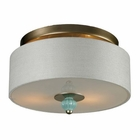 ELK Lilliana 2 Light Semi Flush in Seafoam and Aged Silver EK-31361-2