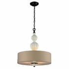 ELK Lilliana 3 Light Pendant in Cream and Aged Bronze EK-31372-3