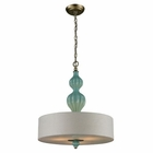 ELK Lilliana 3 Light Pendant in Seafoam and Aged Silver EK-31362-3