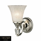 ELK Lincoln Square 1-Light Sconce in Polished Nickel With Clear Crystalline Glass EK-11200-1