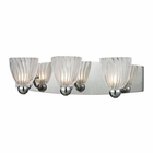 ELK Lindale 3 Light Vanity in Polished Chrome EK-11792-3