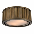 ELK Linden Collection 2 Light Flush Mount in Aged Brass EK-46120-2