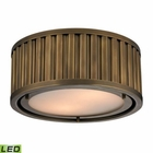 ELK Linden Collection 2 Light Flush Mount in Aged Brass- Led EK-46120-2-LED
