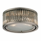 ELK Linden Collection 2 Light Flush Mount in Brushed Nickel EK-46112-2