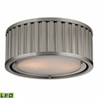 ELK Linden Collection 2 Light Flush Mount in Brushed Nickel- Led EK-46110-2-LED