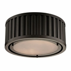 ELK Linden Collection 2 Light Flush Mount in Oil Rubbed Bronze EK-46130-2