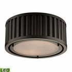 ELK Linden Collection 2 Light Flush Mount in Oil Rubbed Bronze- Led EK-46130-2-LED