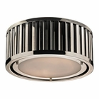 ELK Linden Collection 2 Light Flush Mount in Polished Nickel EK-46100-2