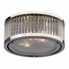 ELK Linden Collection 2 Light Flush Mount in Polished Nickel EK-46102-2