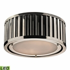 ELK Linden Collection 2 Light Flush Mount in Polished Nickel- Led EK-46100-2-LED