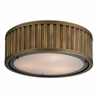 ELK Linden Collection 3 Light Flush Mount in Aged Brass EK-46121-3