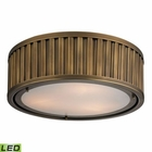 ELK Linden Collection 3 Light Flush Mount in Aged Brass - Led EK-46121-3-LED