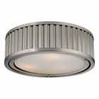 ELK Linden Collection 3 Light Flush Mount in Brushed Nickel EK-46111-3