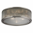 ELK Linden Collection 3 Light Flush Mount in Brushed Nickel EK-46113-3