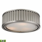 ELK Linden Collection 3 Light Flush Mount in Brushed Nickel - Led EK-46111-3-LED