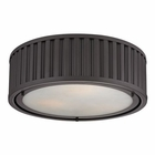 ELK Linden Collection 3 Light Flush Mount in Oil Rubbed Bronze EK-46131-3