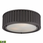 ELK Linden Collection 3 Light Flush Mount in Oil Rubbed Bronze - Led EK-46131-3-LED
