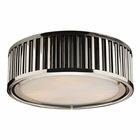 ELK Linden Collection 3 Light Flush Mount in Polished Nickel EK-46101-3