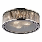 ELK Linden Collection 3 Light Flush Mount in Polished Nickel EK-46103-3