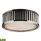 ELK Linden Collection 3 Light Flush Mount in Polished Nickel - Led EK-46101-3-LED