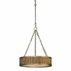 ELK Linden Collection 3 Light Pendant in Aged Brass EK-46124-3