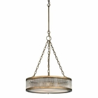 ELK Linden Collection 3 Light Pendant in Aged Brass EK-46125-3