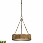 ELK Linden Collection 3 Light Pendant in Aged Brass - Led EK-46124-3-LED