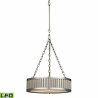 ELK Linden Collection 3 Light Pendant in Brushed Nickel - Led EK-46114-3-LED