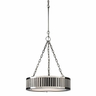 ELK Linden Collection 3 Light Pendant in Polished Nickel EK-46104-3