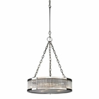 ELK Linden Collection 3 Light Pendant in Polished Nickel EK-46105-3