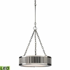ELK Linden Collection 3 Light Pendant in Polished Nickel - Led EK-46104-3-LED