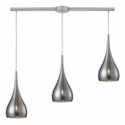 ELK Lindsey 3 Light Pendant in Satin Nickel EK-31341-3L-SN