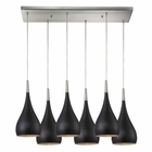 ELK Lindsey 6 Light Pendant in Oiled Bronze and Satin Nickel EK-31341-6RC-OB