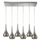ELK Lindsey 6 Light Pendant in Satin Nickel EK-31340-6RC-SN