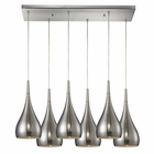 ELK Lindsey 6 Light Pendant in Satin Nickel EK-31341-6RC-SN