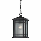 ELK Lowell 1 Light Outdoor Pendant in Matte Black EK-87043-1