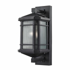 ELK Lowell 1 Light Outdoor Sconce in Matte Black EK-87040-1