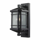 ELK Lowell 1 Light Outdoor Sconce in Matte Black EK-87041-1