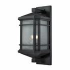 ELK Lowell 1 Light Outdoor Sconce in Matte Black EK-87042-1
