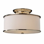 ELK Lureau 2-Light Semi-Flush in Polished Nickel EK-20061-2