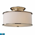 ELK Lureau 2-Light Semi-Flush in Polished Nickel - Led EK-20061-2-LED