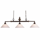ELK Lurray 3-Light Billiard/Island Light in Aged Bronze EK-66175-3