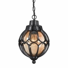 ELK Madagascar 1 Light Outdoor Pendant in Matte Black EK-87023-1