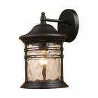ELK Madison 1-Light Outdoor Sconce in Matte Black EK-08161-MBG