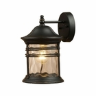 ELK Madison 1-Light Outdoor Sconce in Matte Black EK-08162-MBG